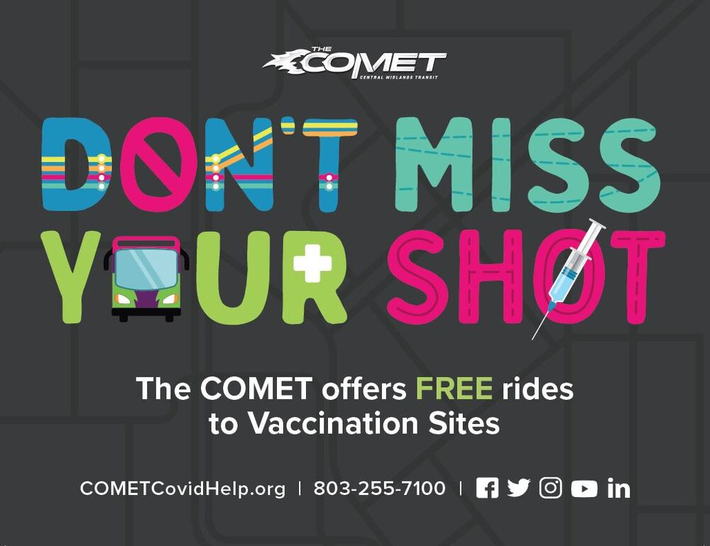 COMET offers free rides to COVID19 vaccination sites